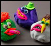 Crumple Creatures and Caricatures Crafts Idea