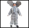 Jumbo Elephant Costume : Oatmeal Container Crafts Ideas for Kids