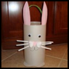 Easter Bunny Container : Crafts with Oatmeal Boxes for Children