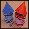 Crayon School Box : Crafts with Oatmeal Containers for Kids