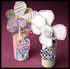 Fun 3D Flowers : Oatmeal Container Crafts Ideas for Kids