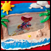 On the beach photo frame for kids