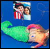 mermaid photo holder craft