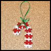 Candy   Cane Ornament  : Crafts with Puzzle Pieces for Kids