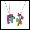 Puzzle   Piece Friendship Necklace  Puzzle Arts and Crafts Projects with Puzzles