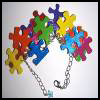 Puzzle   Piece Bracelet  Puzzle Arts and Crafts Projects with Puzzles