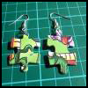 Puzzle   Piece Earrings  Puzzle Arts and Crafts Projects with Puzzles