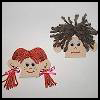 Puzzle   Piece Faces  Puzzle Arts and Crafts Projects with Puzzles