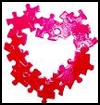 Heart Puzzle Frame : Puzzle Crafts Activities for Children