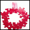 """Complete   Me"" Puzzle Wreath  : Crafts with Puzzle Pieces for Kids"