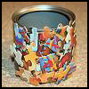 Decoupage   Puzzle Pot Craft  : Crafts with Puzzle Pieces for Kids