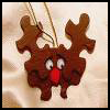 Puzzle   Reindeer Pin