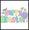 Easter   Card Puzzle  : Crafts with Puzzle Pieces for Kids