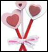 Heart Bouquet Tied with Ribbons Crafts Idea