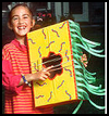 Cardboard Box Guitar with Ribbons Crafts Instructions for Kids