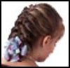 Shoelace   Bow with Front Braids    : Shoelace Crafts for Children