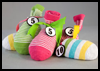 Colorful   Sock Toss  : Sock Crafts Ideas for Kids