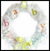 Baby   Shower - Room Wreath  : Sock Crafts Ideas for Kids