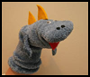 Dinosaur   Sock Puppet   : Crafts with Socks Activities for Children