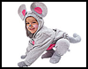 Li'l   Gray Mouse Costume    : Ideas for Arts and Crafts Projects with Socks