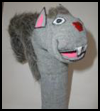 Herbivores   Sock Puppet Squirrel   : Crafts with Socks Activities for Children
