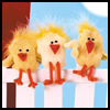 Charming   Chicks Sock Puppets  : Sock Crafts Ideas for Kids