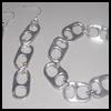 Soda Cans Tab Earrings and Bracelet