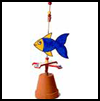 Fish   Weather Vane  : Crafts with Trays for Children