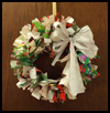 Reused   Wrapping Paper Wreath