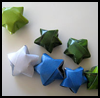 3D   Paper Stars : Crafts with Wrapping Paper for Kids