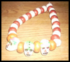 Day    Of The Dead Necklace, Bracelet And Earrings Set