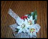 How   to Make a Christmas Poinsettia Barrette