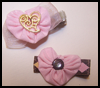 Yo   Yo Heart Hair Clips for Valentine's day!