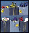 Denim Jeans Organizer Arts and Crafts Activity for Kids