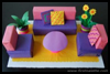 Box Living Room Diorama Craft for Kids