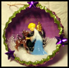 Half-Sphere Angel Scene and Deer Diorama Scene Craft