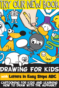 kids drawing - learn how to draw with letters