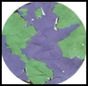 Earth Day Scissor Skills Craft : Globe Geography Crafts Projects for Children