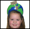 """Save our Planet"" Earth Day Visors : Globe Geography Crafts Projects for Children"