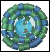 Earth Day Wreath : Globe Geography Crafts Projects for Children