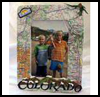 Vacation Map Picture Frame : Souvenir Crafts Ideas for Children