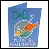 Fathers Day Fish Card Craft	for Kids