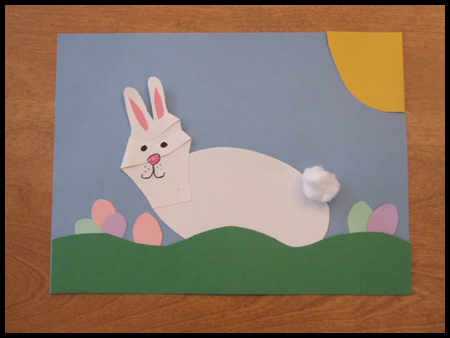 Easter Bunny Handprint Craft Project For Kids