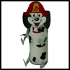 Dalmatian   Dog Toilet Paper Roll  : Fire Prevention Crafts for Kids