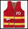 Child's   Play Fireman's Vest : Fire Prevention Crafts for Kids