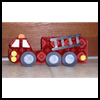 Egg   Carton Fire Truck Craft  : Fire Prevention Crafts for Kids