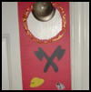 Fireman   Door Hanger  : Fire Prevention Week Crafts Instructions