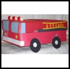 Fire   Truck Shoebox   : Fire Fighters Fire Engines Crafts Ideas