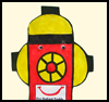 Fire   Hydrant Freddy Craft  : Fire Man's Crafts for Preschoolers