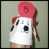 Fire   Dog Cup Puppet  : Fire Prevention Crafts for Kids